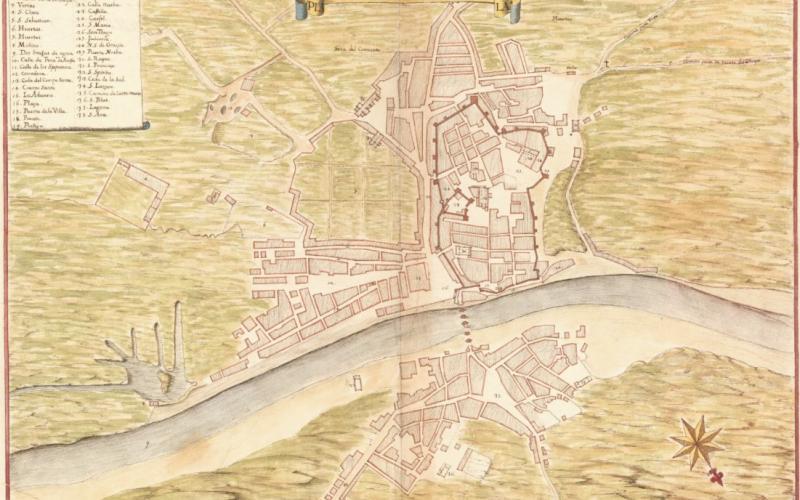 planta da cidade de Tavira de Leonardo di Ferrari
