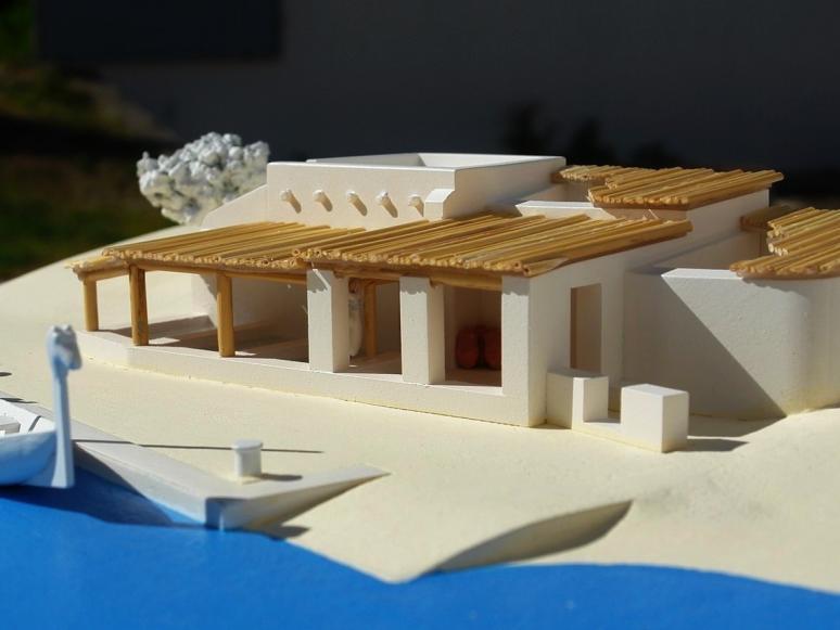 reconstituição parcial da zona portuária em Tavira (aproximadamente 400 a.C. )