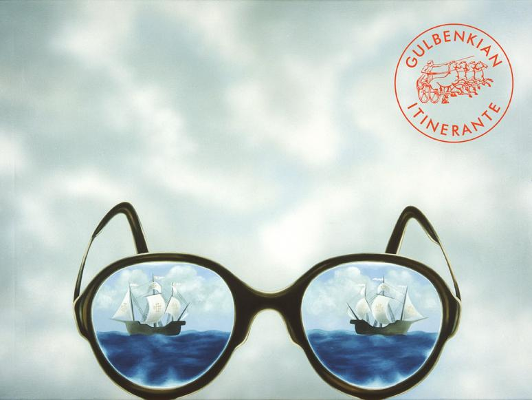António Costa Pinheiro (1932-2015), Os Óculos do Poeta Álvaro de Campos - Heterónimo de Fernando Pessoa, 1980, Óleo s/ tela, Museu Calouste Gulbenkian - Coleção Moderna.